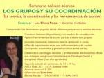 Seminario teórico-técnico Los Grupos y su Coordinación – por Elena Rozas