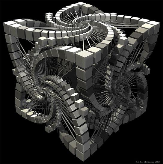 Cubo estilo Escher