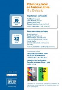 19 y 20 de julio en el IPyPP